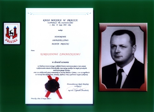 Honorowy obywatel Miasta Praszki