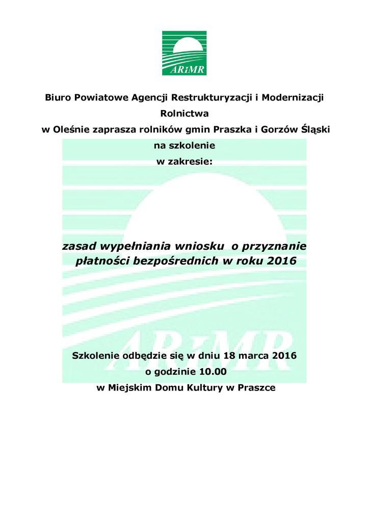 plakat szkolenie Praszka 2016.jpeg